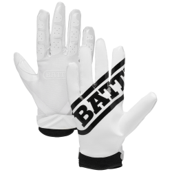 BATTLE ユース Ultra-Stick Receiver Gloves ホワイト