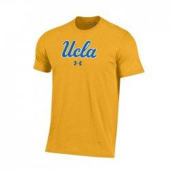 UCLA BRUINS UA スクールロゴ ショートスリーブシャツ イエロー
