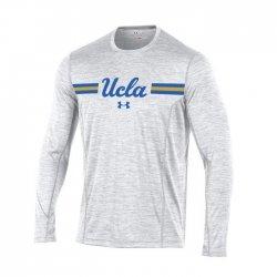 UCLA BRUINS UA 2017 サイドライン ロングスリーブシャツ ホワイト