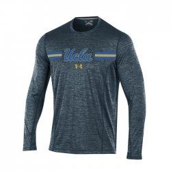 UCLA BRUINS UA 2017 サイドライン ロングスリーブシャツ ブラック