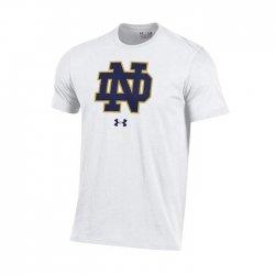 NOTRE DAME UA スクールロゴ ショートスリーブシャツ ホワイト