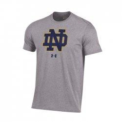 NOTRE DAME UA スクールロゴ ショートスリーブシャツ グレー