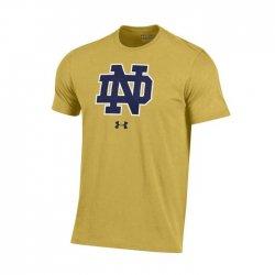 NOTRE DAME UA スクールロゴ ショートスリーブシャツ カーキ