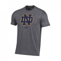 NOTRE DAME UA スクールロゴ ショートスリーブシャツ ダークグレー