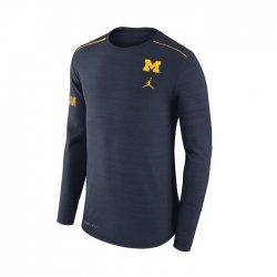 MICHIGAN JORDAN DRI-FIT サイドライン ロングスリーブシャツ ネイビー