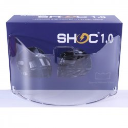 SHOC 1.0 LIGHTNING フットボールバイザー クリアミラー