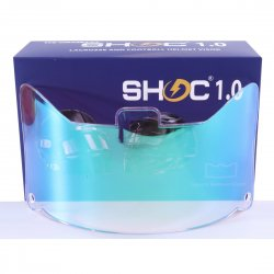 SHOC 1.0 LIGHTNING フットボールバイザー クリアスカイ