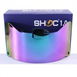 SHOC 1.0 LIGHTNING フットボールバイザー サファイア