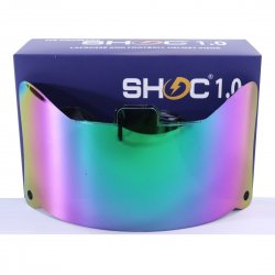 SHOC 1.0 LIGHTNING フットボールバイザー ノーザンライト