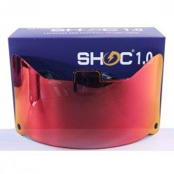 SHOC 1.0 LIGHTNING フットボールバイザー タイガーブラッド・レッド