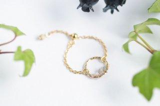 K14GF【diamond hoop】ダイヤモンドフープ・チェーンリング[ダイヤモンド]