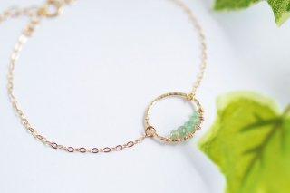 K14GF【emerald hoop】エメラルドフープ・ブレスレット[エメラルド]