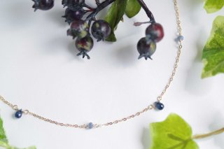 K14GF【sapphire drops】サファイアドロップス・ネックレス[ブルーサファイア]