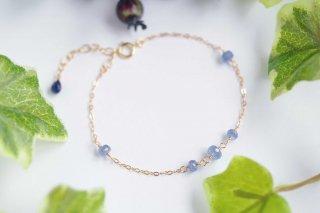 K14GF【sapphire drops】サファイアドロップス・ブレスレット[ブルーサファイア]