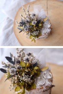 白樺リングピロー(紫陽花)
