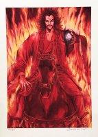 王欣太 『炎の中、馬上の曹操』 (複製原画 2002年リリース)