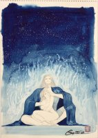 王欣太 『三つ星の夜』 (原稿前原画)