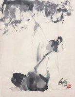 王欣太 『曹植』 (原稿前原画)
