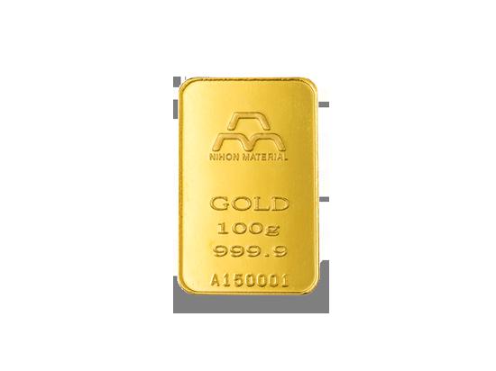 純金インゴット100g(モールドタイプ)