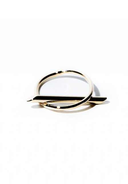 lock stick ring (gold)
