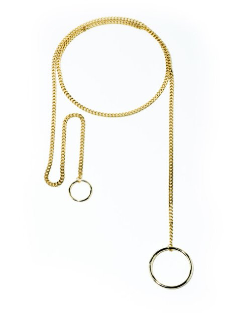 dropcircle chain necklace (gold)