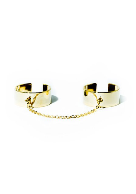 chain double ring (gold)