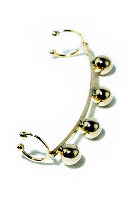 metalball ear cuff (gold)