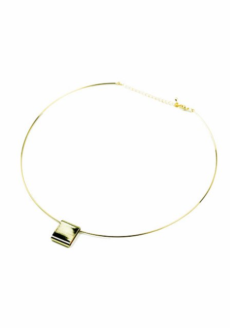 square top choker (gold)