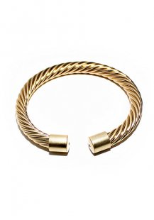 twisted pattern bangle (gold)
