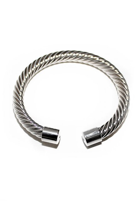 twisted pattern bangle (silver)