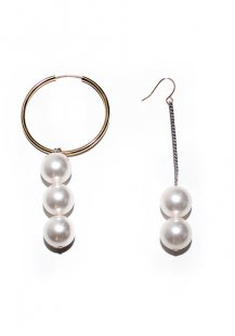 big pearl dropped earrings