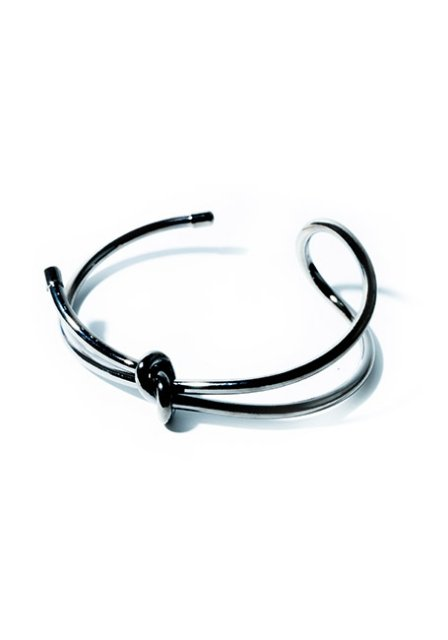 metal loop bangle (black)
