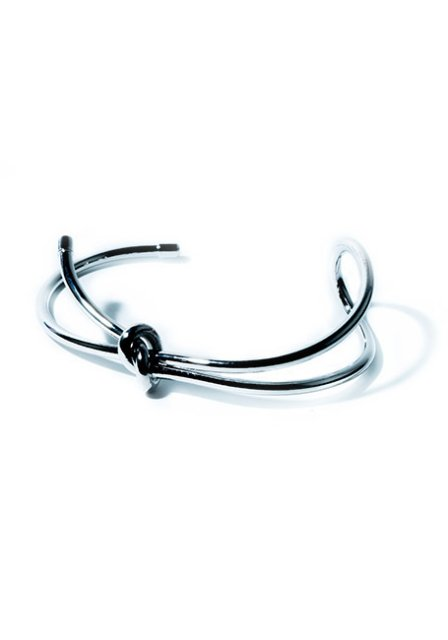 metal loop bangle (silver)