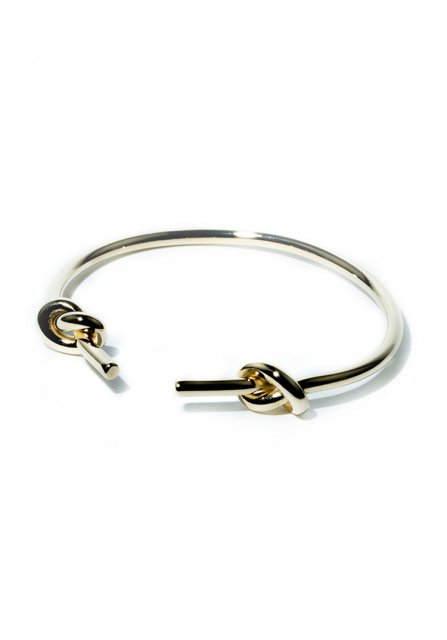 both ends loop bangle (gold)