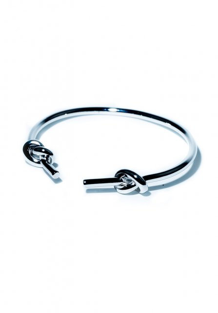 both ends loop bangle (silver)