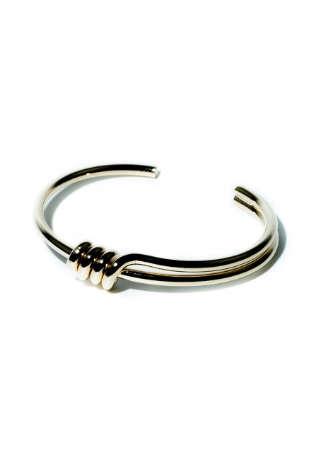 tornado metal bangle (gold)