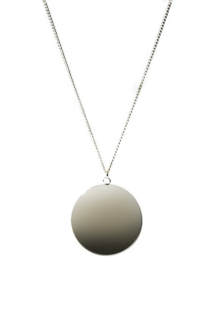 circle design plate necklace (gold)