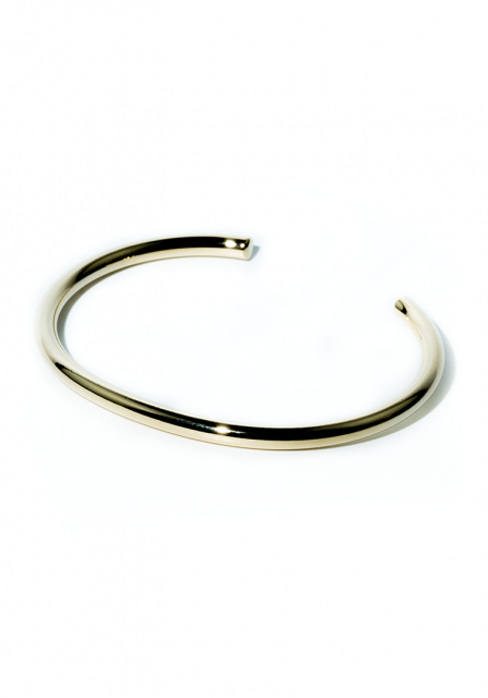 round metal bangle (gold)