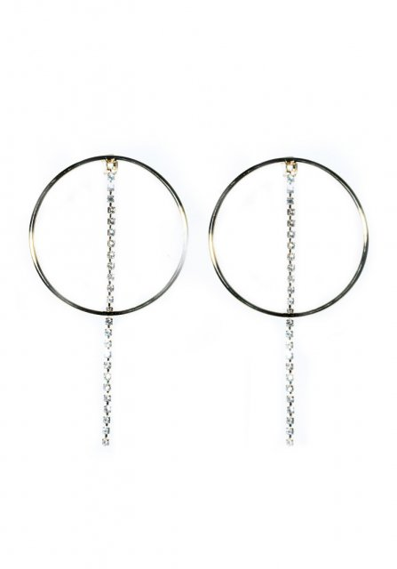 stone line hoop pierce (gold)