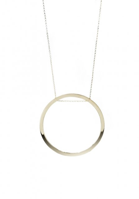 geometric circle necklace (gold)