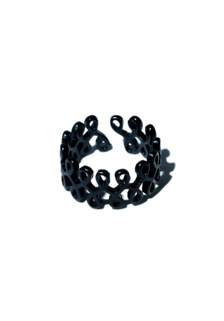 tattoo style ring (matte black)