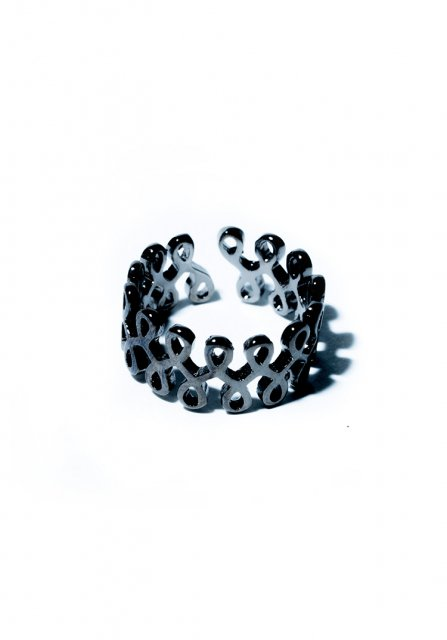 tattoo style ring (black)