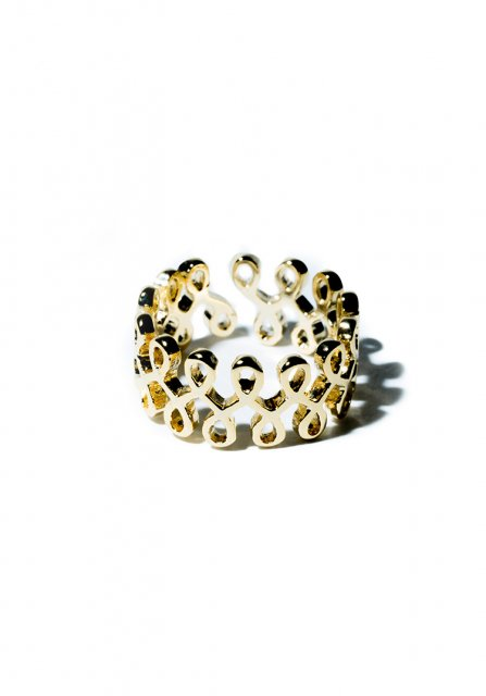 tattoo style ring (gold)