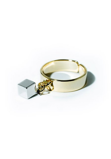 solidcube ring (gold×silver)
