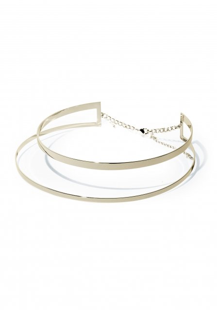 leyered metal choker (gold)