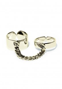 twins chain ring (gold)