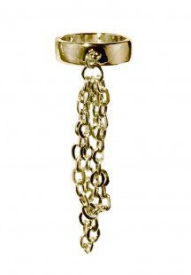 leyard chain ring (gold)