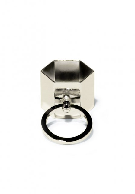 knock hexagon ring (gold)
