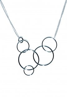 some rings necklace (silver)