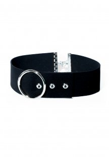 thick belt choker (silver)